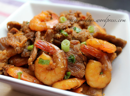 Caramelized Shrimps & Pork