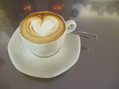 A heart of foam (Rosmarie Wirz) Tags: morning italy foam getty cappuccino heartshaped pleasehelpyourself gettyaccepted gettyimagesfranceq2