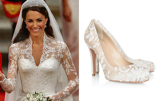 Kate Middleton Wedding Shoes by designer Alexander McQueen