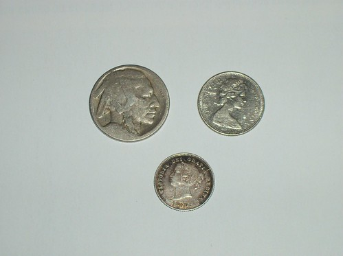Old coins, front