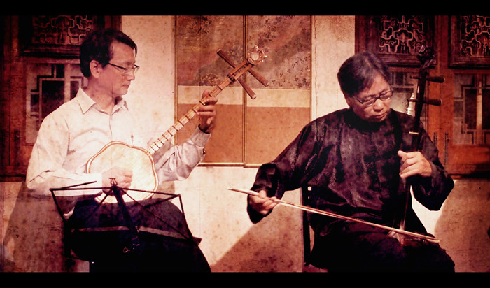 Chinese instruments:  Ruan & Er Hu