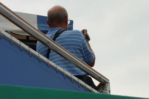 Husband taking video