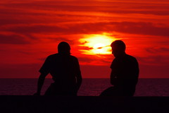 Friends at sunset (albatros11) Tags: friends sunset red sea man friendship pentax algrie kx pentaxkx algria pentaxart