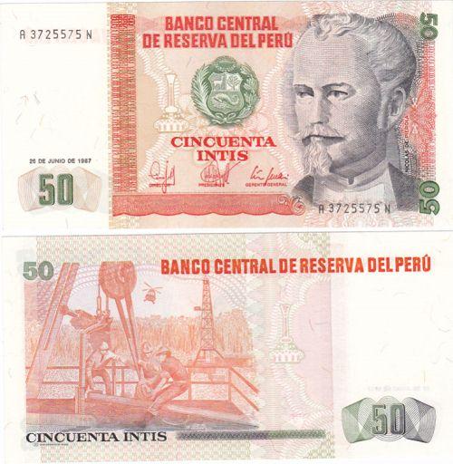50 Intis Peru 1987, Pick 131