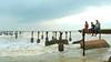 the broken bridge (rahuldeebee) Tags: calicut kozhikode beach monsoon rough sea people