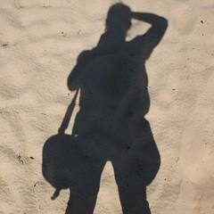 oktober 10th - sun/ shaddow (strange little woman on stream) Tags: portrait people sun beach me portugal monochrome sand shaddow trainingcamp springtimetravel strangelittlewoman