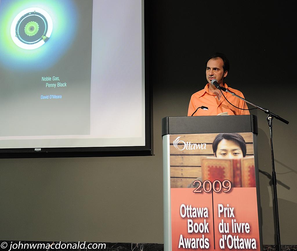 David O'Meara - 2009 Lampman-Scott Award