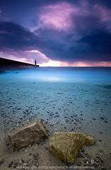 Farol da Foz do Douro (Raul Nunes) Tags: blue sunset sea sky lighthouse green sol praia beach mar sand rocks do areia violet cu eros farol por pedras coth alemdagqualityonlyclub raulnunes