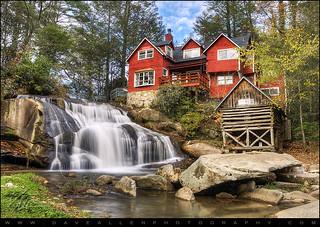 Mill Shoals Falls - WNC Waterfall Landscape Photography