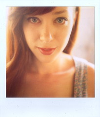 Alie Ward (Lou O' Bedlam) Tags: portrait losangeles gorgeous redhead echopark polaroid680 louobedlam lounoble 102509 alieward