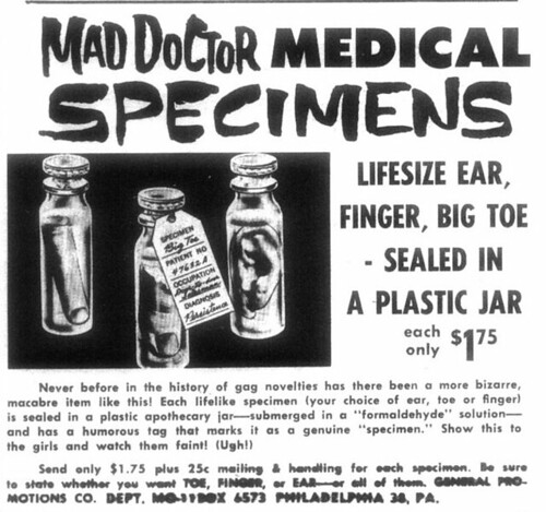 Mad Doctor Medical Specimens