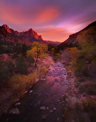 Zion National Park_The Watchman (kevin mcneal) Tags: autumn sunset mountains fall creek river seasons desert zion zionnationalpark watchmen americansouthwest natonalpark