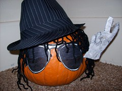 Michael Jackson as a Pumkin