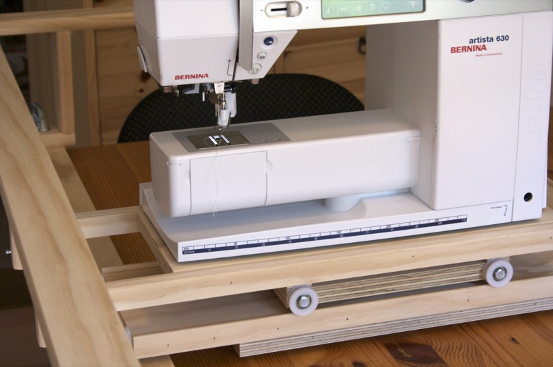 Easy Quilter 3 - machine now in place