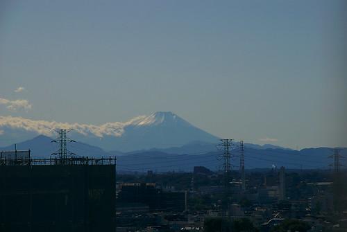 志木から見た富士