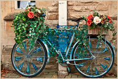 Ble Bicycle (IanbPhoto) Tags: bicycle advertising chipping campden