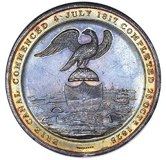 1825 Erie Canal Completion Medal Reverse