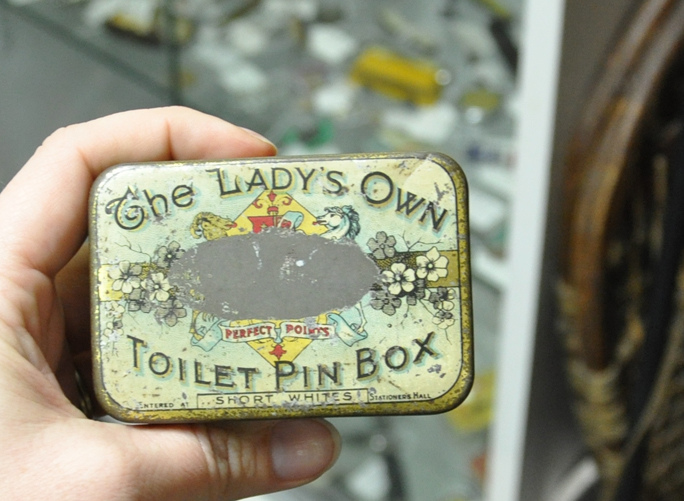 toilet pins tin