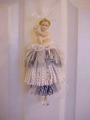 Decorative Tassel cherub blue white1 (Enchanted Rose Studio) Tags: blue white crystal cottage fringe romantic ribbon chic homedecor tassel blueandwhite shabby giftideas bullionfringe decorativetassel
