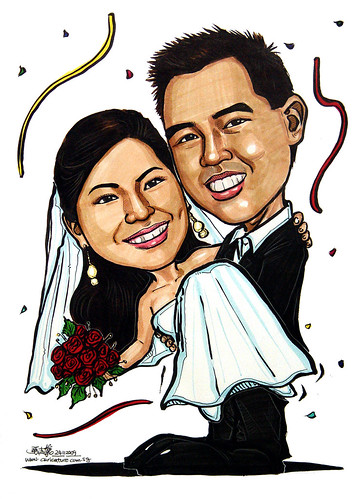 Wedding couple caricatrues 241109
