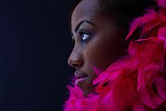 PINK JAZZ (YAHSHEIK) Tags: pink portrait woman black lady emotion feather jazz