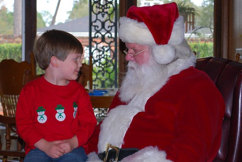 Brooks and Santa closeup