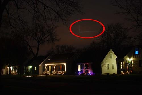 red circled lights