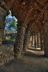 Arcos del Parque Gell (jpferre2007) Tags: barcelona parque espaa spain arquitectura escultura gaudi catalunya parc modernismo catalua modernisme gell espanya flickraward flickrestrellas