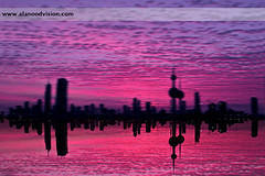 Inverted Kuwait (Banafsaj_Q8 .. Free Photographer) Tags: pink sky ikea buildings purple towers free photographers exhibition reflect kuwait inverted kuwaitcity abraj      nikond90  alanood banafsajq8  alotaibi alanoodvisioncom