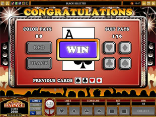 free Get Rocked gamble feature