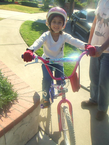 her first bike!