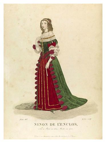 013-Ninon de L'Enclos-Galerie Française de femmes célèbres 1827- Louis Marie Lanté