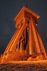 S:t Olofs kapell Tylsand (marcusn82) Tags: blue snow church night lights photo sweden halmstad tylsand kyrktorn