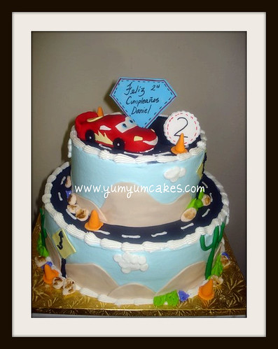 disney pixar cars cakes. 2tier disney pixar cars cake