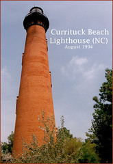 Currituck Beach (NC) Lighthouse -- August 1994 (Ron Cogswell) Tags: curritucknc currituckbeachlighthouse roncogswell outerbanklighthouses currituckbeachnclighthouseaugust1994 currituckbeachnclighthouse