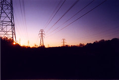 wired (loganbertram) Tags: sunset sun film lines nc fuji power ae1 superia north 200iso iso wires 200 cannon carolina fujifilm hillsborough loganbertramphotography