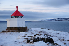 Winter lighthouse (GeirB,) Tags: lighthouse norway norge nikon nikkor finnmark vads redroof varanger fyrlykt