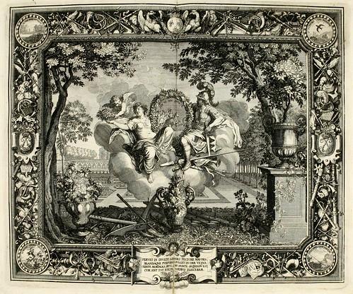 018-Las estaciones-Primavera-Tapisseries du roy, ou sont representez les quatre elemens 1690- Sebastien Le Clerc