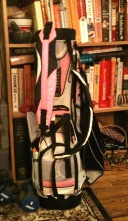 My pretty new pink golf bag