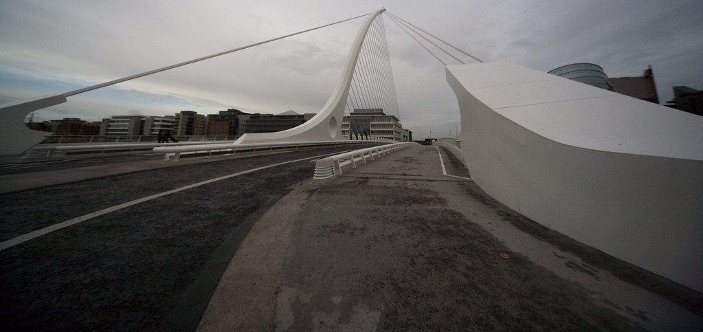 Wideangle View Of The Beckett Bridge