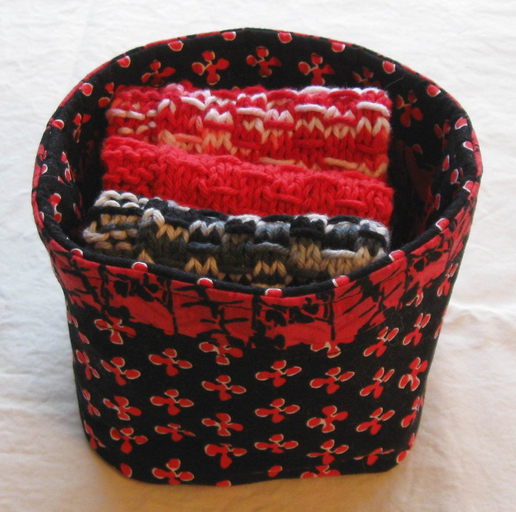 FABRIC BASKET and Dish Cloth Set