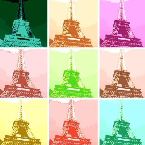 warholizer Eiffel Tower