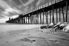 Oceanside Pier (Bryce Bradford) Tags: california white black pier san long exposure diego olympus oceanside infrared zuiko hoya r72 e500 f3556 1442mm