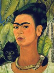 Frida Kahlo - Self-Portrait with Monkey, 1938