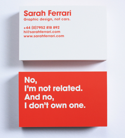 ferrari business card 1