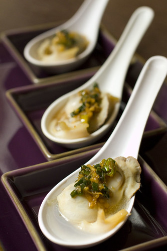 set of three Abalone and Oyster Amuse
