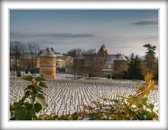 Couchey (@lain G) Tags: moulin ciel neige chateau bourgogne vignes ferme manoir côtedor francelandscapes couchey