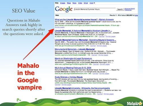 Mahalo's SEO Pitch