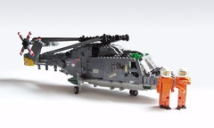Royal Netherlands Navy SH-14D Lynx (3) (Mad physicist) Tags: dutch lego navy helicopter figures westland lynx 122 koninklijkemarine royalnetherlandsnavy