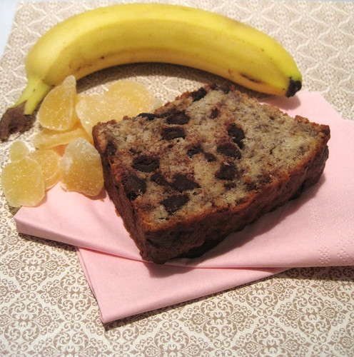 Chocolate Ginger Banana Bread